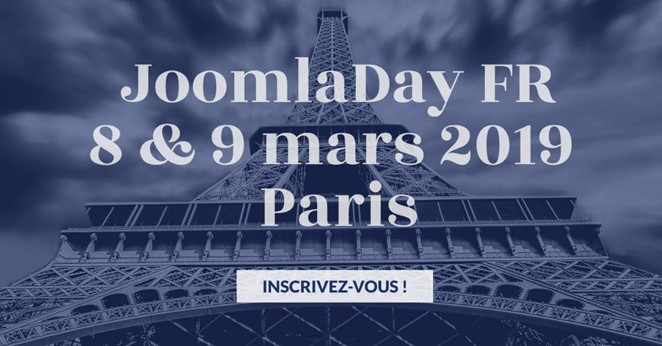 Joomladay FR 2019 à Paris