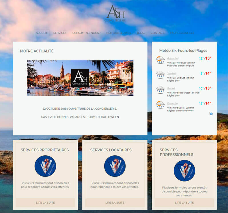 template ash conciergerie