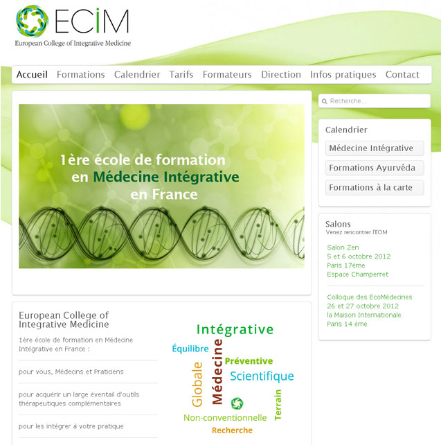 Template Joomla 2.5 responsive - European college of integrative medicine