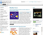 International Music Council - Migration sous Joomla 2.5 - recréation du template
