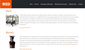 mobilier urbain aloesred template joomla